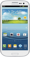 Samsung - Galaxy S III 4G with 16GB Mobile Phone - Marble White (AT&T)