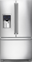 Electrolux - 22.6 Cu. Ft. Counter-Depth French Door Refrigerator with Thru-the-Door Ice and Water - Stainless-Steel