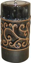 Smart Garden - Etruscan Ceramic Fire Pot - Blue Midnight