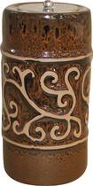 Smart Garden - Etruscan Ceramic Fire Pot - Chestnut Orange
