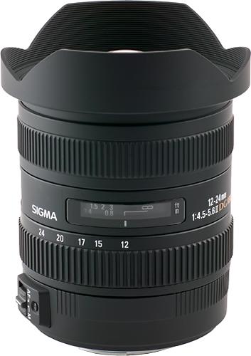 Sigma - 12-24mm f/4.5-5.6 DG HSM II Ultra-Wide Zoom Lens for Select Sony APS-C/Full-Frame DSLR Cameras - Black