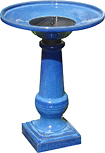 Smart Solar - Athena Solar-on-Demand Birdbath - Blue