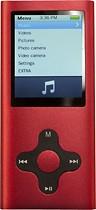 Mach Speed - Eclipse 180G2 Series 4GB* Video MP3 Player - Red