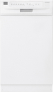 "Frigidaire - 18"" Built-In Dishwasher - White"