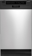 "Frigidaire - 18"" Built-In Dishwasher - Stainless-Steel"