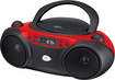 GPX - CD/CD-R/RW Boombox with AM/FM Radio - Red