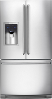 Electrolux - 27.8 Cu. Ft. French Door Refrigerator with Thru-the-Door Ice and Water - Stainless-Steel