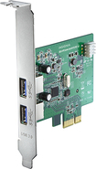 Insignia™ - 2-Port USB 3.0 PCI Express Interface Card - Silver