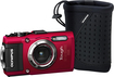 Olympus - Tough TG-3 16.0-Megapixel Digital Camera - Red