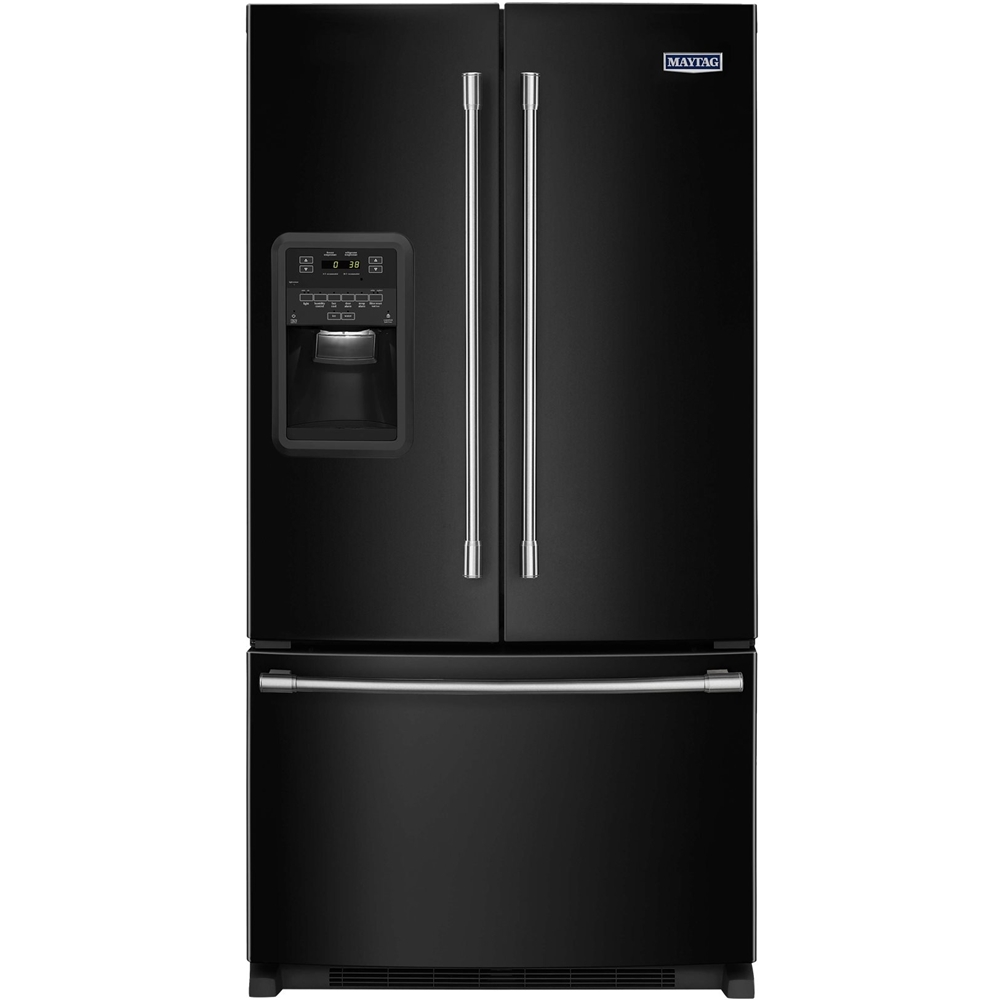 Maytag french door refrigerator reviews - Maytag 21 7 Cu Ft French Door Refrigerator Black Mfi2269frb Best Buy