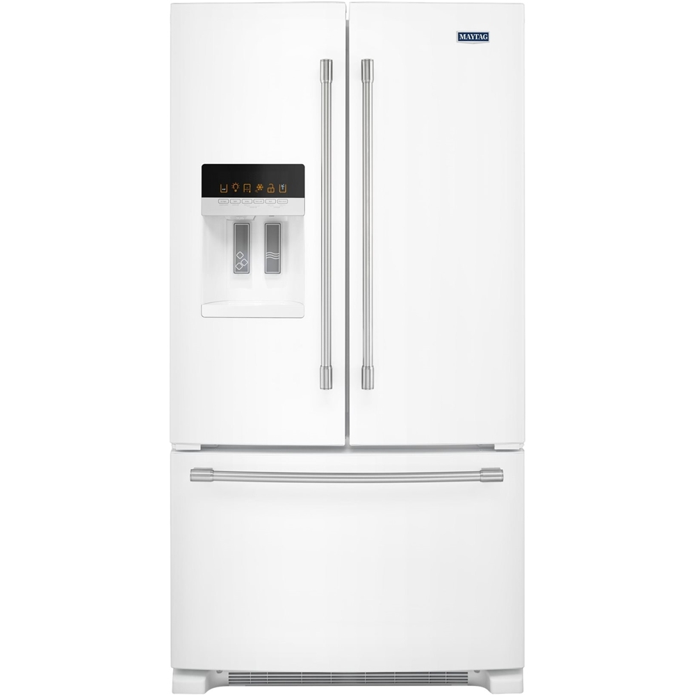 Maytag french door refrigerator reviews - Maytag 24 7 Cu Ft French Door Refrigerator White Mfi2570few Best Buy