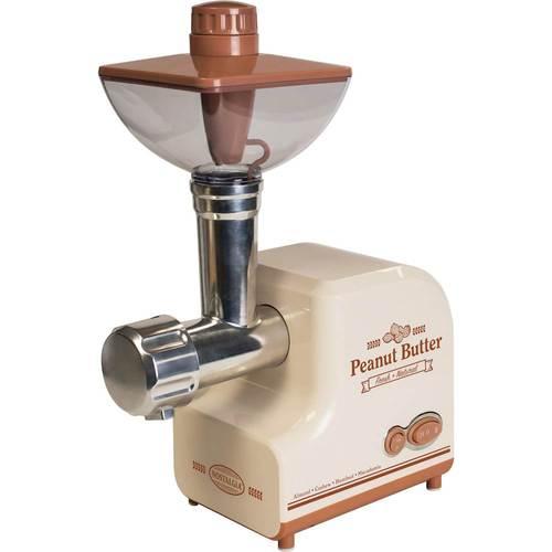 Nostalgia - Professional Peanut & Nut Butter Maker - Cream/Brown