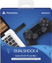 Sony - Dualshock 4 Wireless Controller Starter Kit For Playstation 4 - Black 5623686
