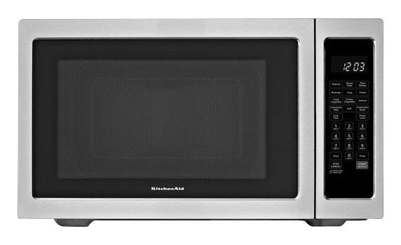 KitchenAid - Architect Series II 1.5 Cu. Ft. Mid-Size Microwave - Stainless Steel