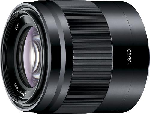 Sony - 50mm f/1.8 OSS Prime Lens for Select Sony Alpha E-mount Cameras - Black
