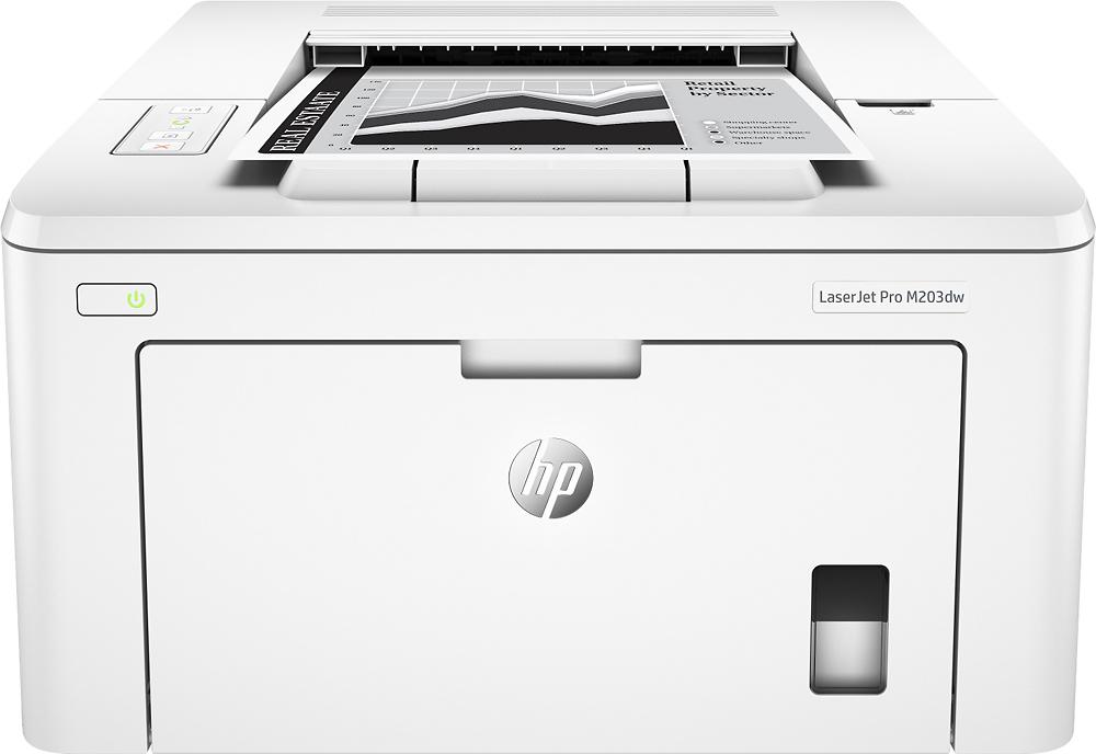 Hp - Laserjet Pro M203dw Wireless Black-and-white Printer