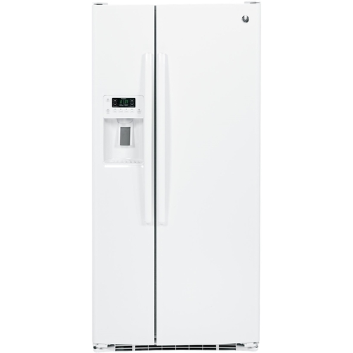white refrigerator with ice maker. ft. side-by-side refrigerator white gss23ggkww - best buy with ice maker 9