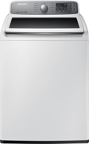 Samsung - 4.8 Cu. Ft. 11-Cycle High-Efficiency Top-Loading Washer - White