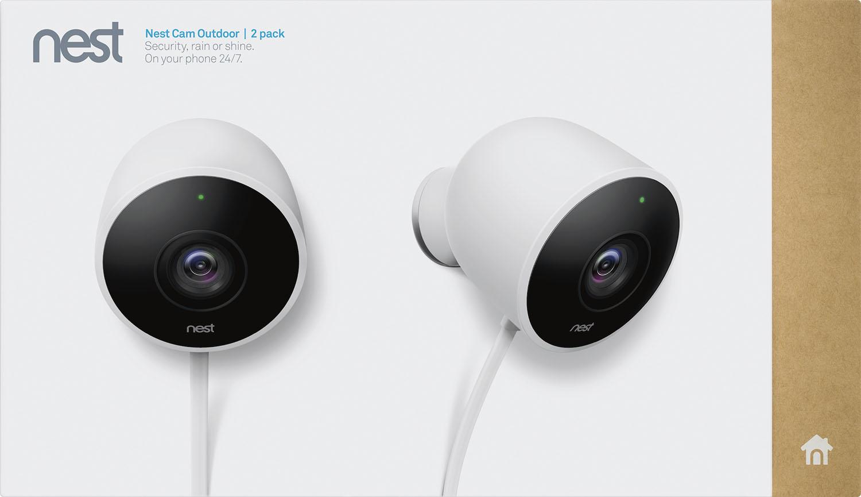 Nest - Cam Outdoor 1080p Wi-fi Network Surveillance Cameras (2-pack)...