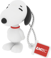 EMTEC - Snoopy 8GB USB 2.0 Flash Drive - White