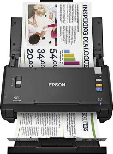 Epson - WorkForce DS-560 Wireless Color Document Scanner - Black