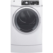 Ge - Rightheight 8.3 Cu. Ft. 13-cycle Gas Dryer With Steam - White 5663805
