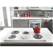 """Amana - 36"""" Electric Cooktop - White"""