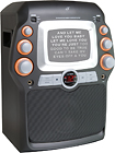 "GPX - CD+G Karaoke System with 5"" Black-and-White Monitor"