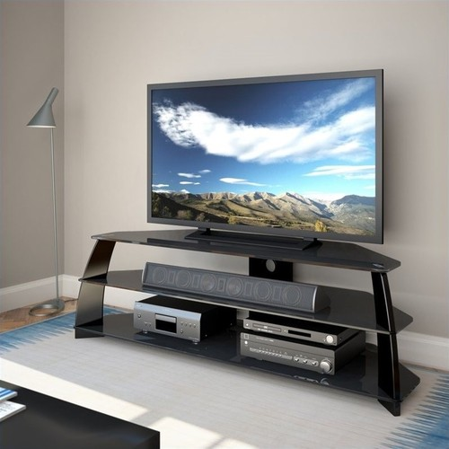 CorLiving - TV Stand for Most 47 to 65 Flat-Panel TVs - Black