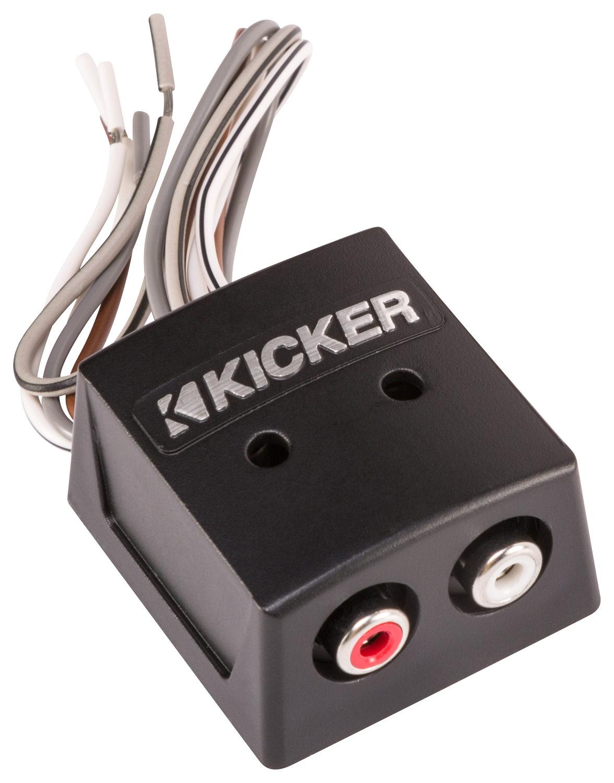 Kicker - KISLOC 2-Channel Speaker-to-RCA Converter - Black