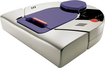 Neato Robotics - XV-21 Pet and Allergy Robotic Vacuum Cleaner - Light Gray/Purple