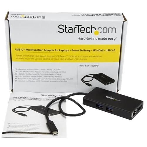 Startech.com - Usb Type-c To Hdmi And Rj-45 External Video