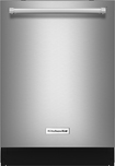 """KitchenAid - 24"""" Tall Tub Built-In Dishwasher - Stainless-Steel"""