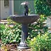 Smart Solar - Umbrella Series Solar-Powered Fountain - Aged Bronze