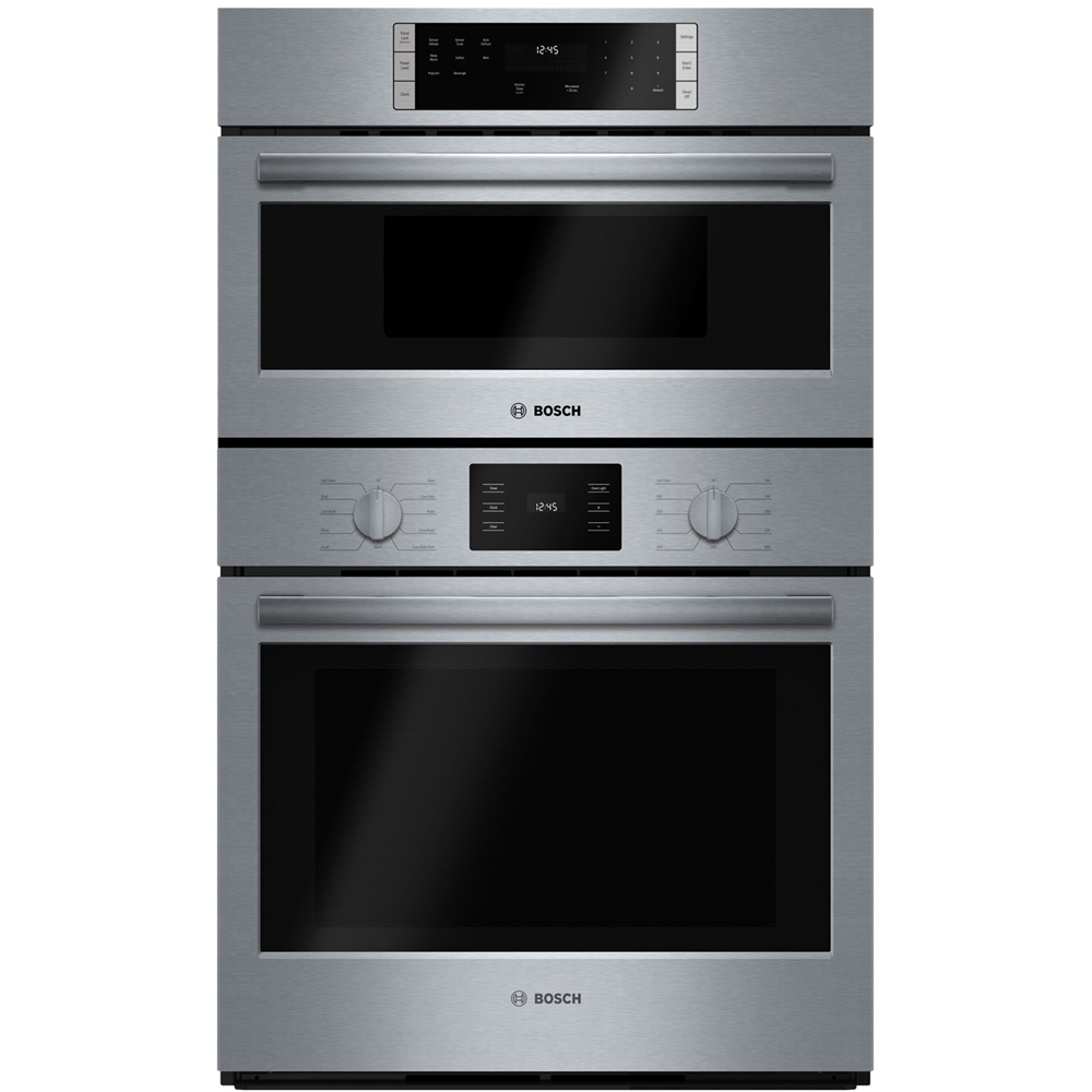 Bosch 500 Series 30 Single Electric Convection Wall Oven With Built In Microwave Stainless Steel At Pacific S