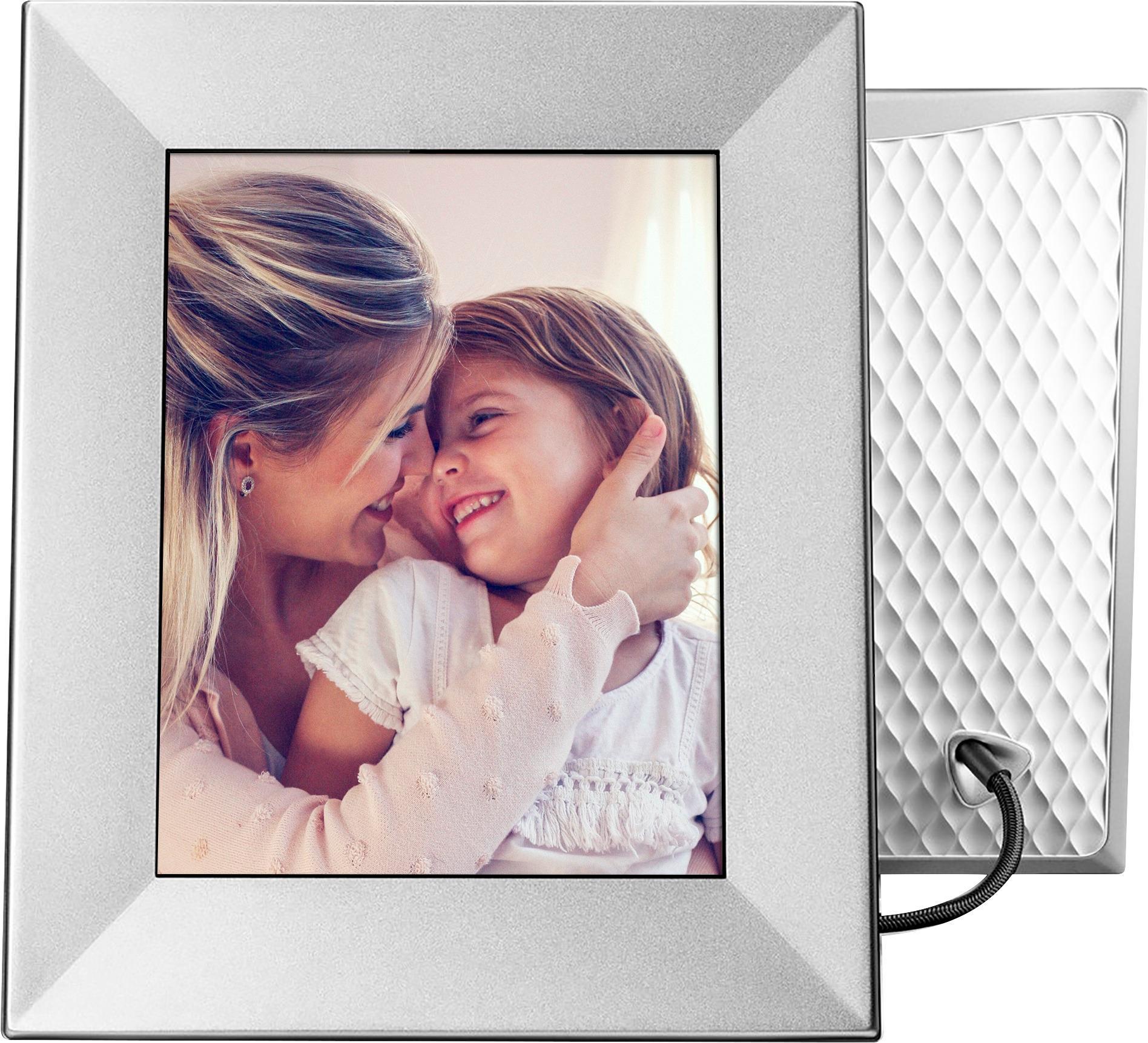 nixplay iris 8 lcd wi fi digital photo frame silver