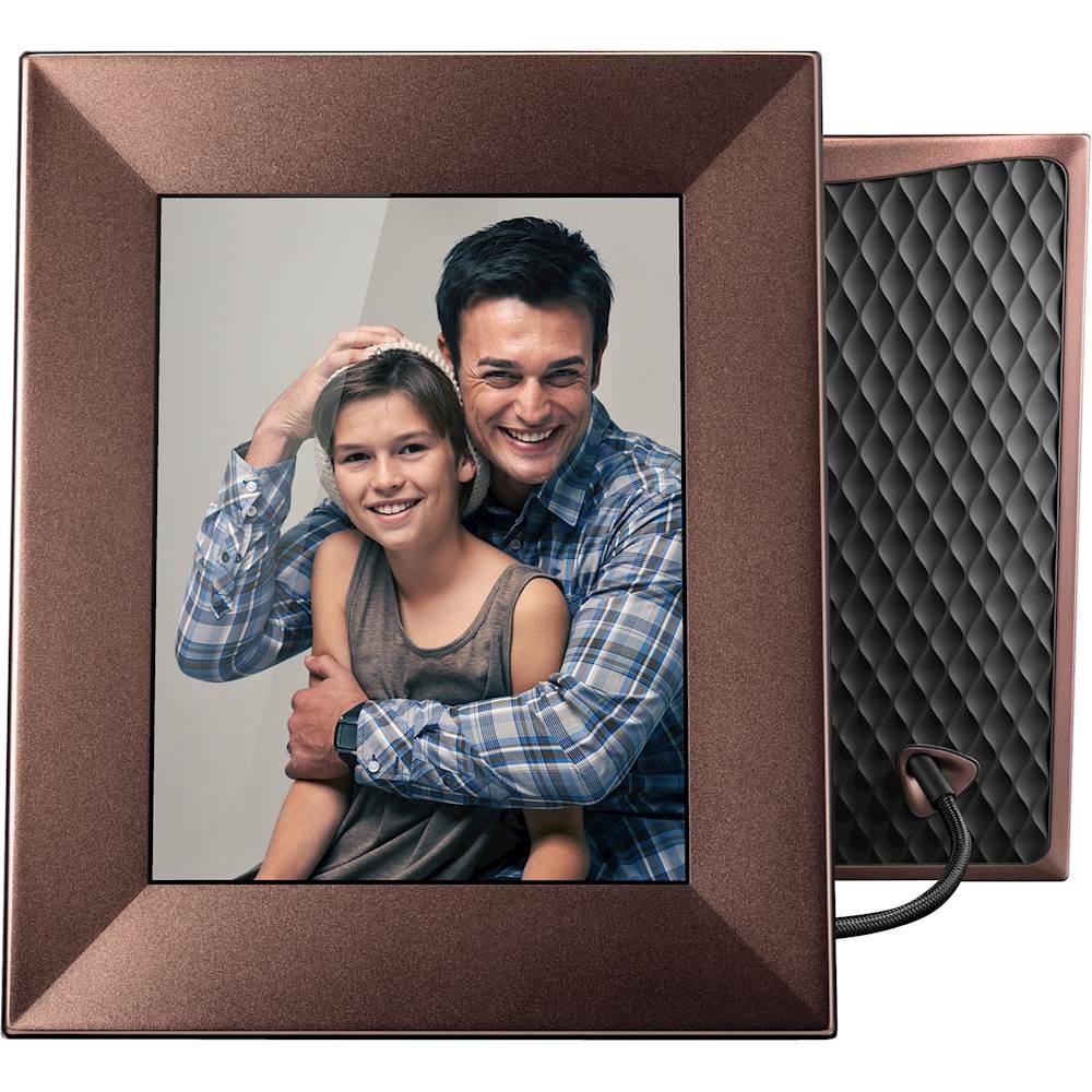 nixplay iris 8 lcd wi fi digital photo frame brown w08e bronze best buy