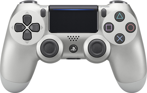 Sony - Dual Shock 4 Wireless Game Pad for Sony PlayStation 4 - Silver