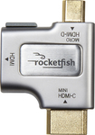 Rocketfish™ - HDMI-to-Micro-/Mini-HDMI Adapter - Silver/Gold