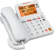 AT&T - AT CL4940 Corded Phone With Digital Answering System - White