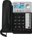 AT&T - Corded Phone with Caller ID/Call Waiting - Black/Gray
