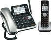 AT&T - DECT 6.0 Expandable Phone System with Digital Answering System - Black/Silver
