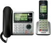 VTech - DECT 6.0 Expandable Phone System with Digital Answering System - Black/Silver