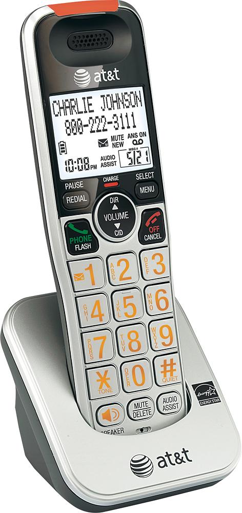 AT&T - AT CRL30102 DECT 6.0 Cordless Expansion Handset - Silver