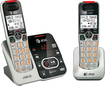 At&t - AT CRL32202 Dect 6.0 Expandable Cordless Phone System with Digital Answering System - Silver