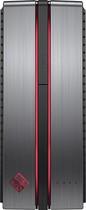 Hp - Omen By Hp Desktop - Intel Core I7 - 16gb Memory - Nvidia Geforce Gtx 1060 - 256gb Solid State Drive + 1tb Hard Drive - Gray/red thumbnail