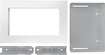 "Whirlpool - 26.9"" Trim Kit For Microwaves - White"