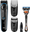 Braun - Wet/dry Trimmer With 2 Guide Combs - Black/blue 5712309