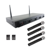 Pyle - 4-channel Uhf Wireless Microphone System - Black