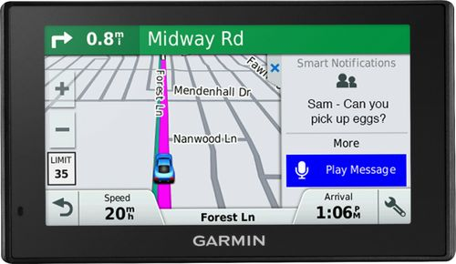 Garmin Drivesmart  Lmt S  Gps With Built In Bluetooth Lifetime Map Updates And Lifetime Traffic Updates Black  Best Buy